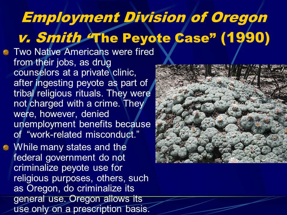 Employment Division of Oregon v.