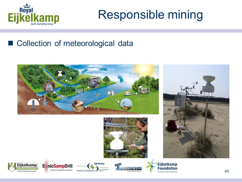46 Responsible mining Collection of meteorological data