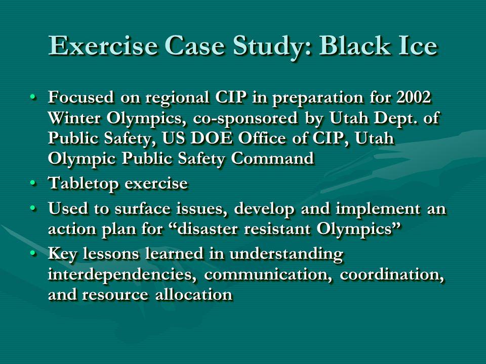 Focused on regional CIP in preparation for 2002 Winter Olympics, co-sponsored by Utah Dept.