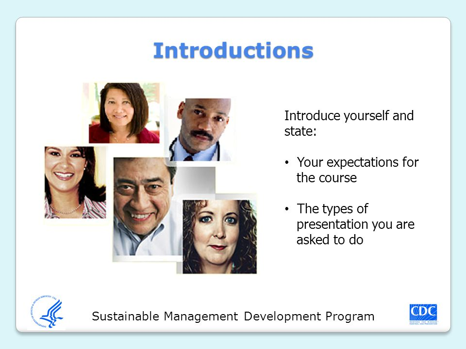 Sustainable Management Development Program Introduction Capture the interest of the audience by making your opening statement strong.