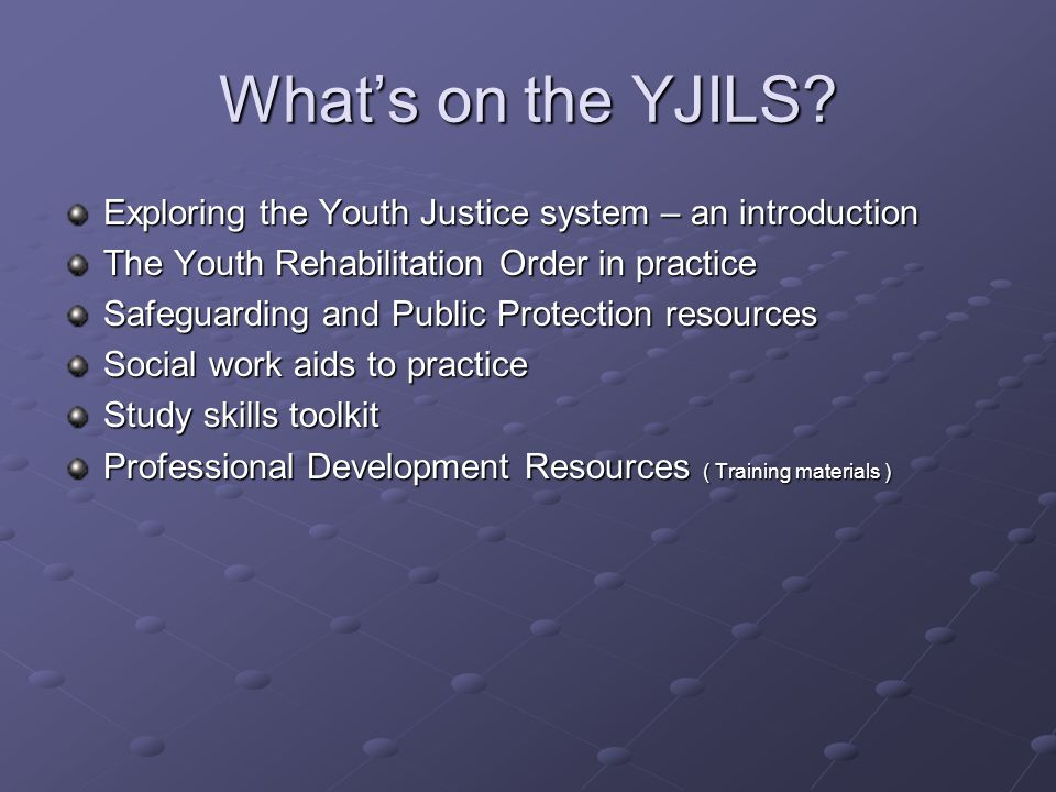 What's on the YJILS.