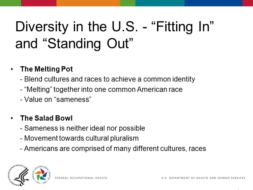 """4 06/29/2007 2:30pm eSlide - P4065 - WorkLife4You Diversity in the U.S. - """"Fitting In"""" and """"Standing Out"""" The Melting Pot - Blend cultures and races t"""
