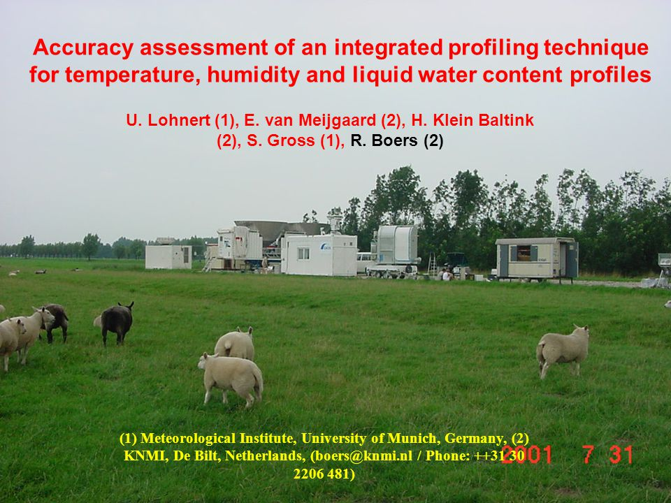 EGU-Boers (2006) Accuracy assessment of an integrated profiling technique for temperature, humidity and liquid water content profiles U.