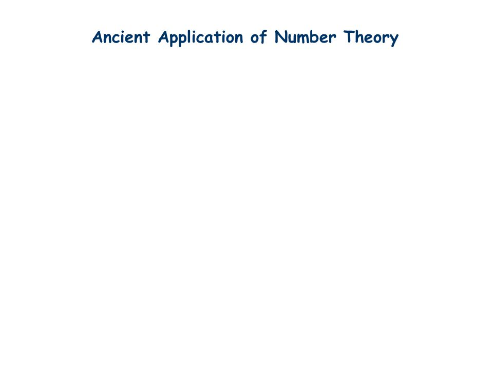 Ancient Application of Number Theory