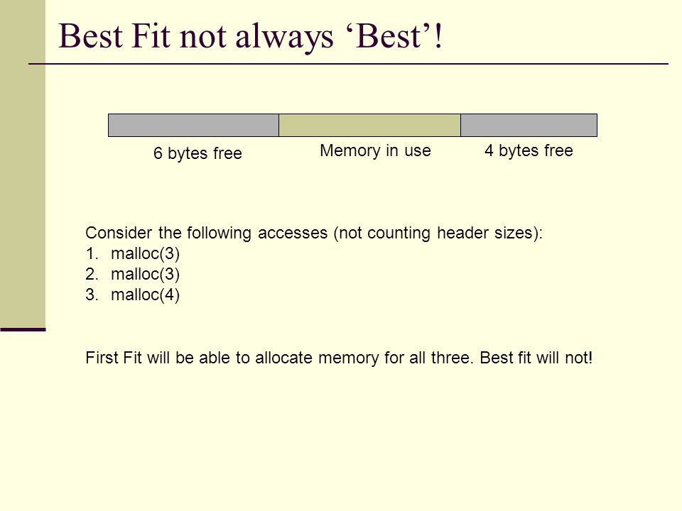 Best Fit not always 'Best'.