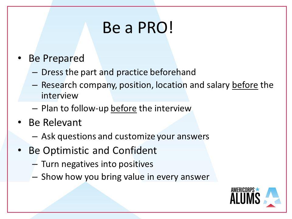 Be a PRO.