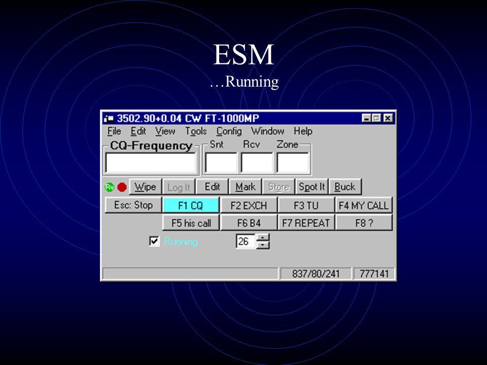 ESM …Running