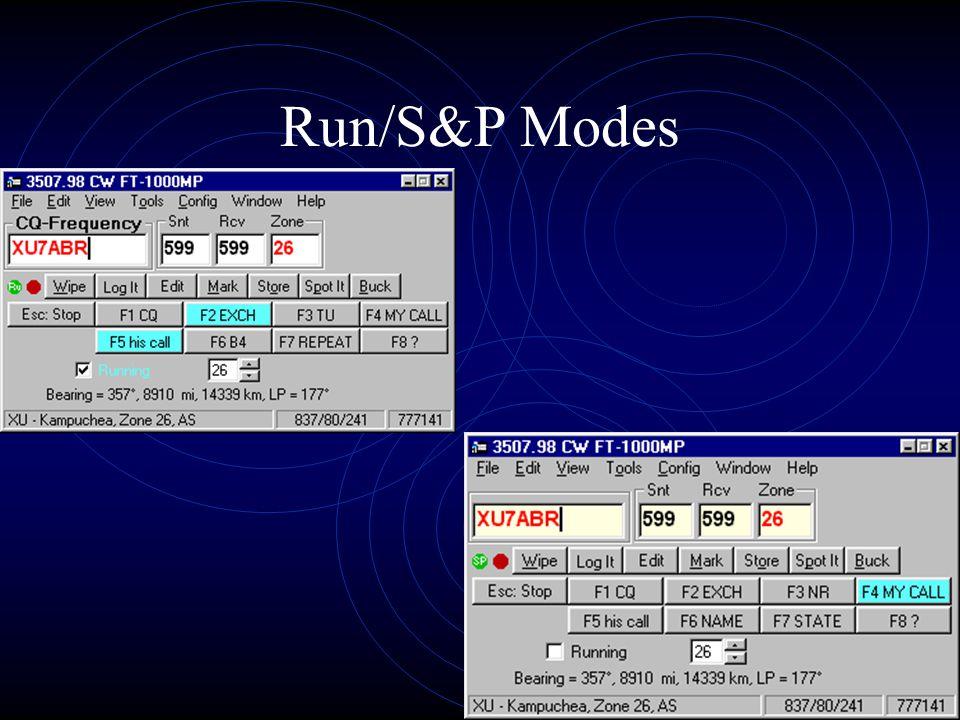 Run/S&P Modes