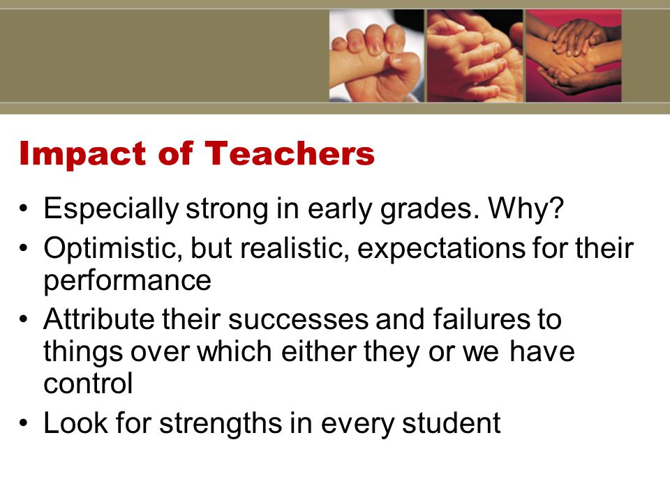 Impact of Teachers Especially strong in early grades.