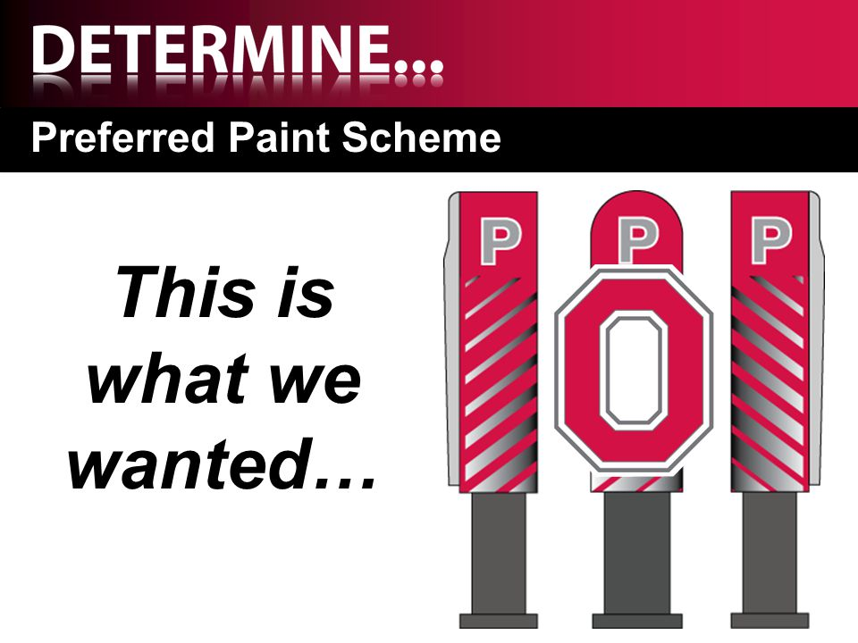 Preferred Paint Scheme This is what we wanted…
