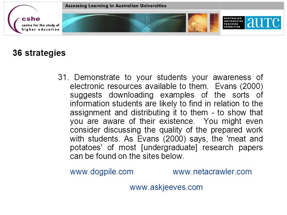36 strategies 31.