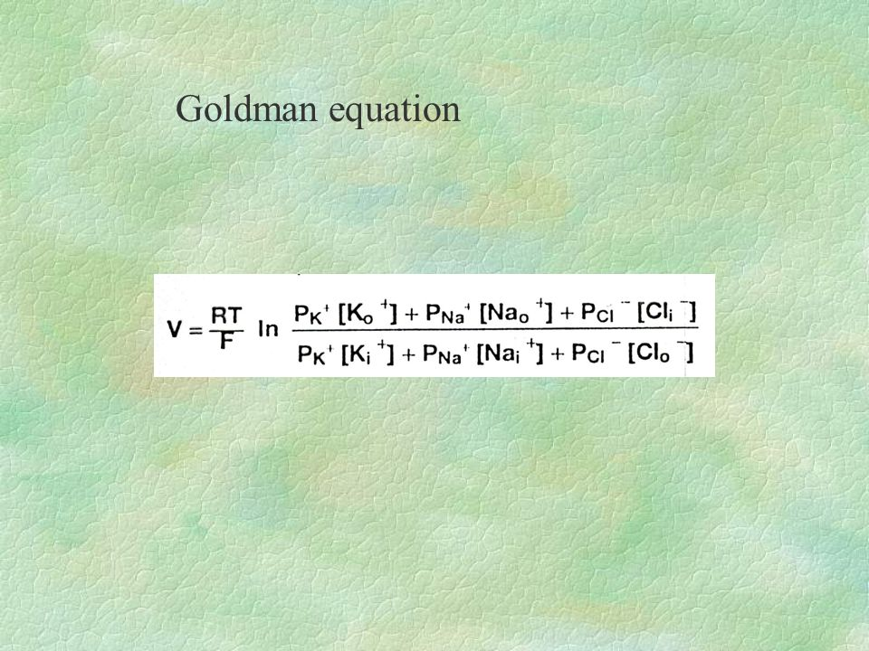 Goldman equation