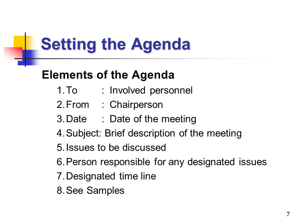 18 Writing Minutes of Meetings (cont'd)  Check that the minutes 1.Provide a true, impartial and balance account of the proceedings; 2.Are written in clear, concise and unambiguous language; 3.Are concise and accurate; 4.Follow a method of presentation which helps the reader assimilated the content.