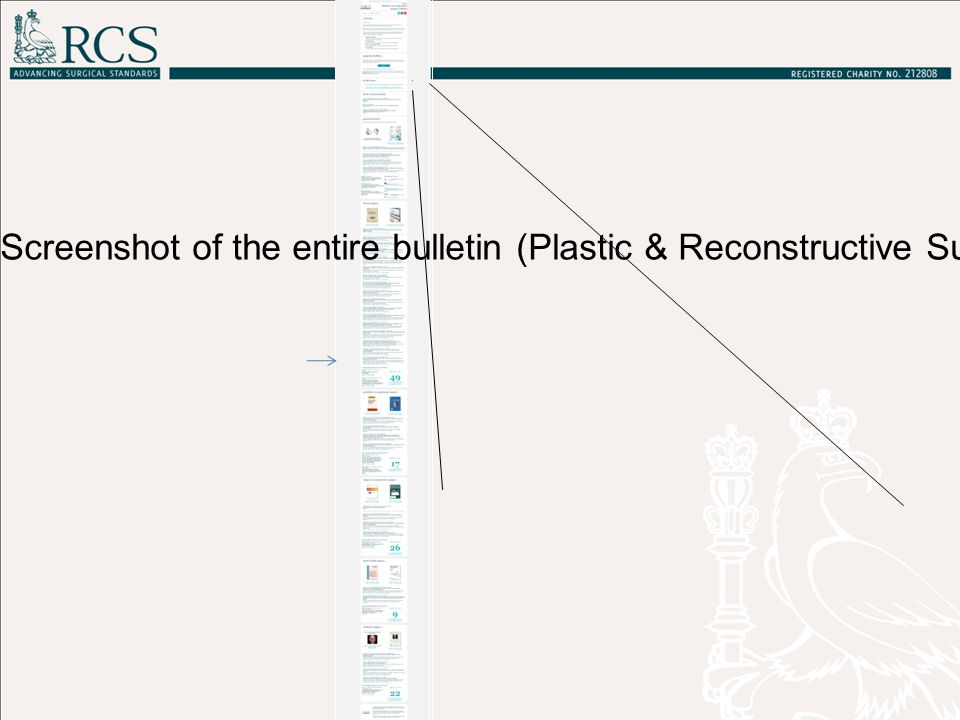 The bulletin TOC of one journal (Plastic and Reconstructive Surgery, Vol.133, Iss.6)
