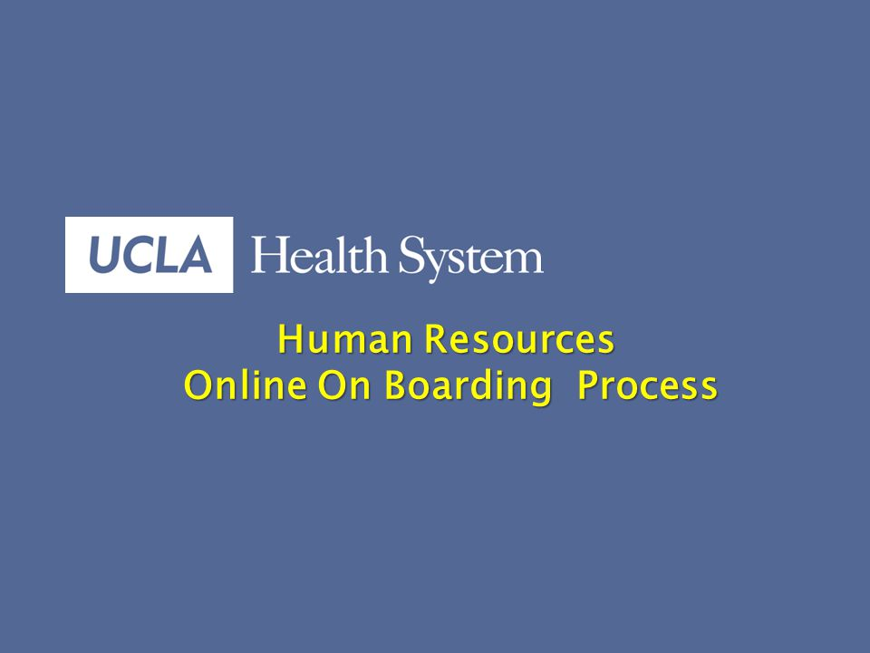 1 Human Resources Human Resources Online On Boarding Process