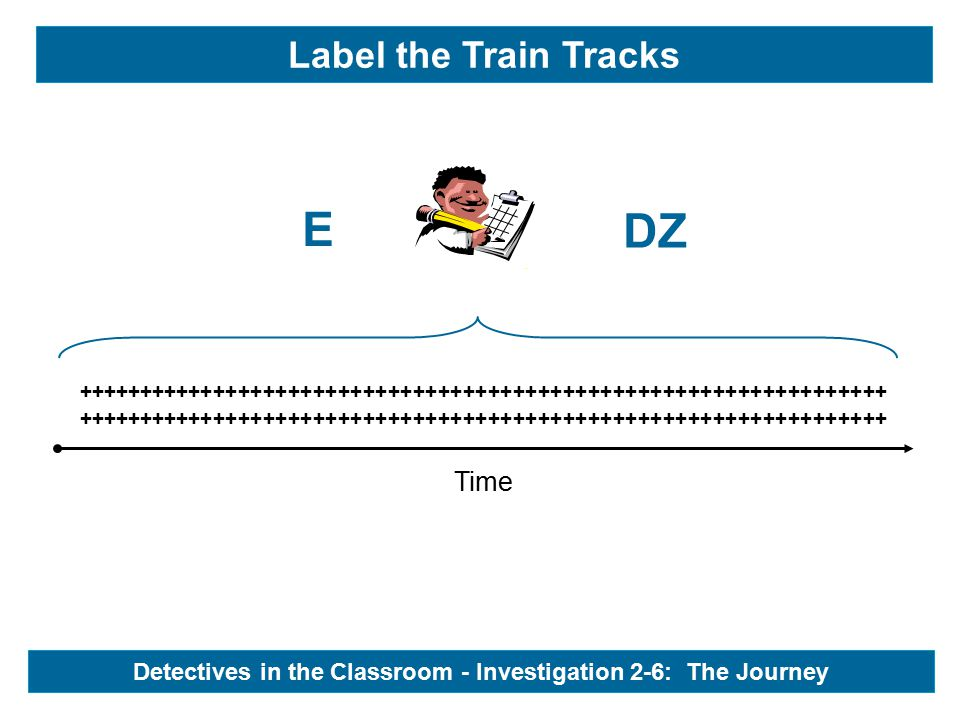 Time +++++++++++++++++++++++++++++++++++++++++++++++++++++++++++++++++ E DZ Label the Train Tracks - Detectives in the Classroom - Investigation 2-6: