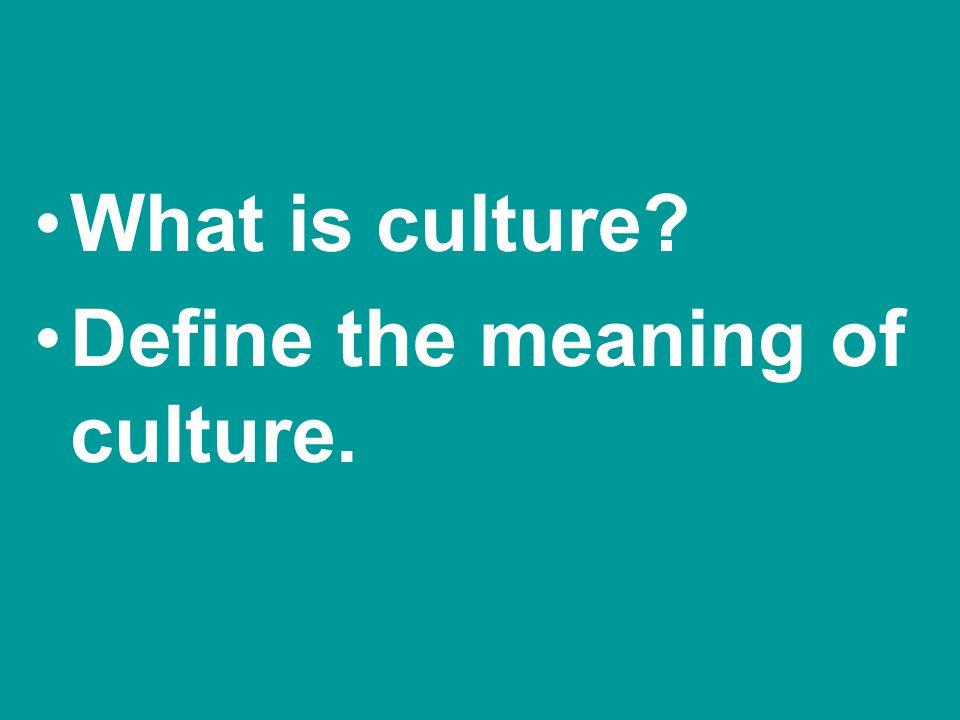 Culture a.) generalization b.) breakdown –1.Cultural relativism –2.