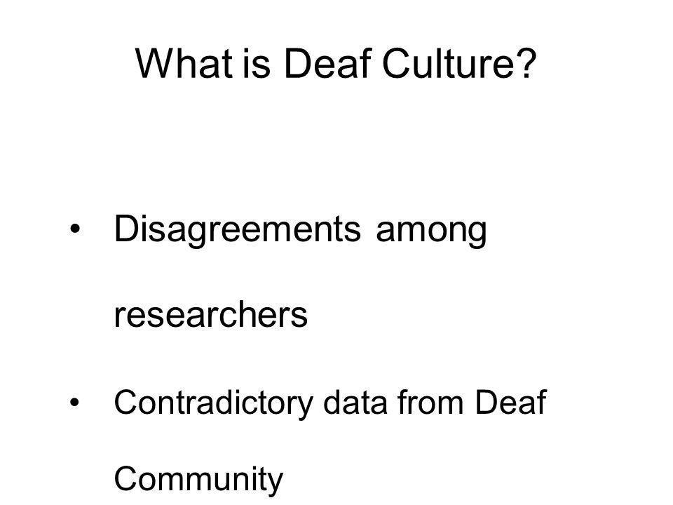 Deaf Culture: Deaf vs.