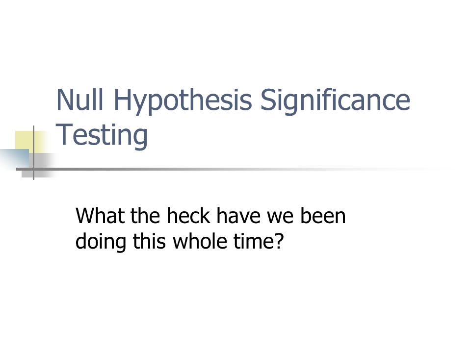 So what does a non-significant result mean.