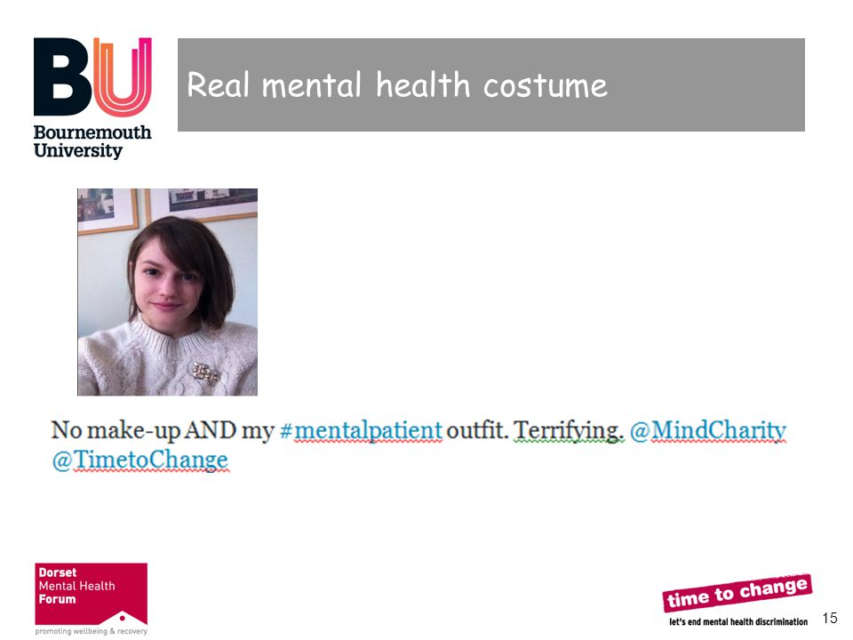 15 Real mental health costume