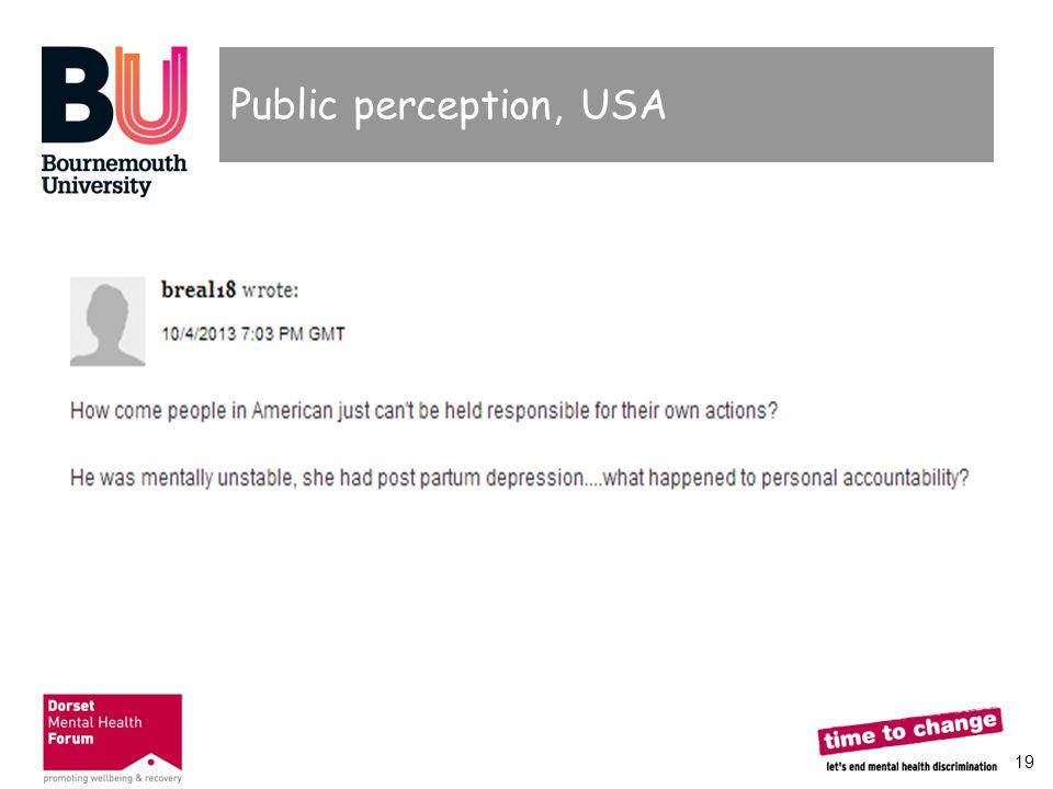 19 Public perception, USA