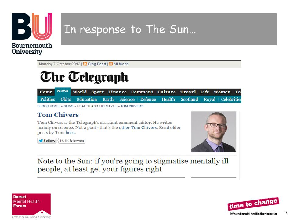 8 Daily Telegraph response  Some good use of figures, countering The Sun's claims  Far from saving lives, the Sun s campaign could put more in danger  Was this a better example of positive reporting.