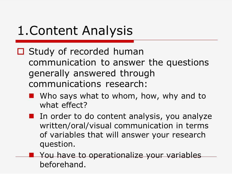 As research method, i.e.