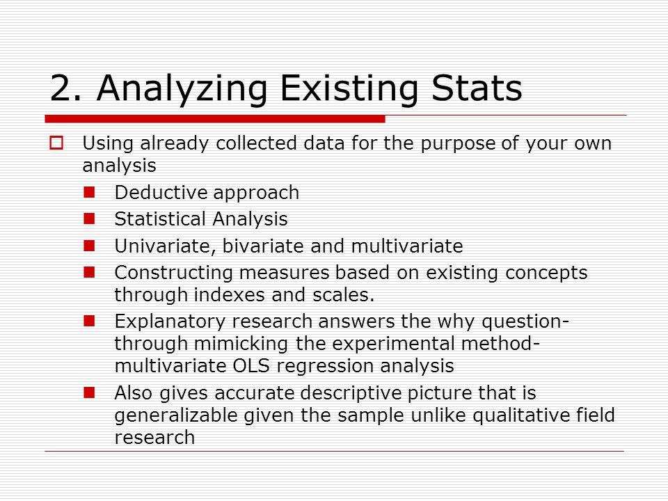  Source of Existing Statistics U.S.