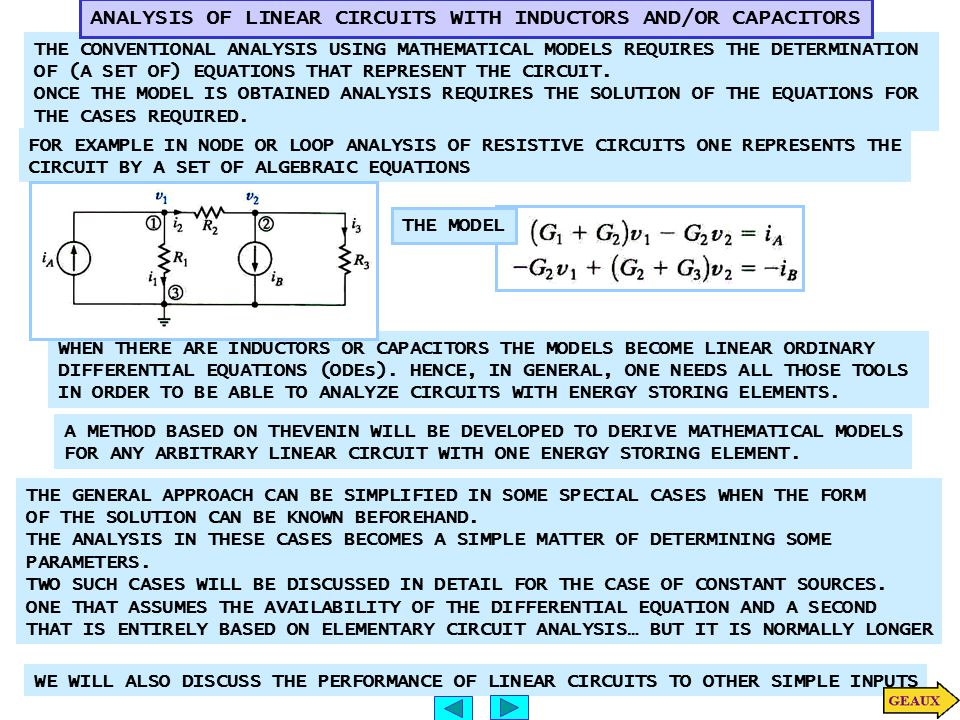 IT IS SIMPLER TO DETERMINE MODEL FOR CAPACITOR VOLTAGE INITIAL CONDITIONS STEP 1 STEP 2 STEP 3