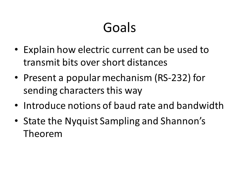 The significance of Nyquist's and Shannon's Theorems  Nyquist's theorem encourages engineers to explore ways to encode bits on a signal.