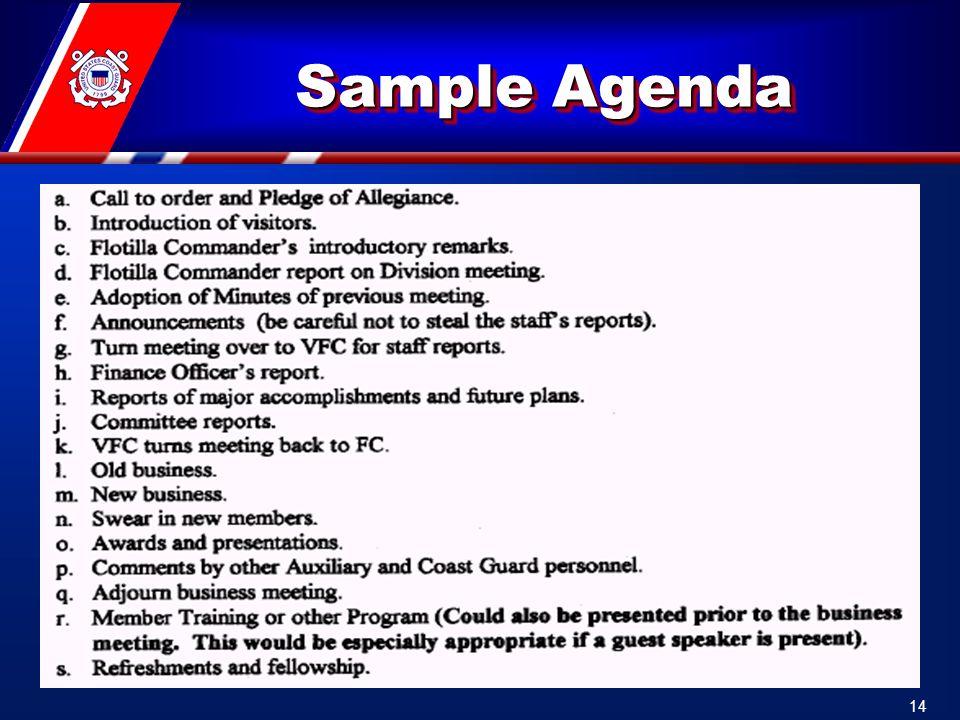 Sample Agenda 14