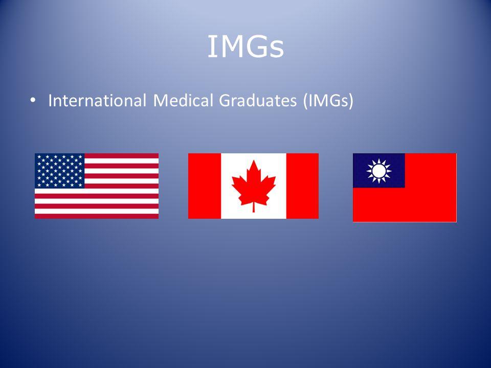 IMGs International Medical Graduates (IMGs)
