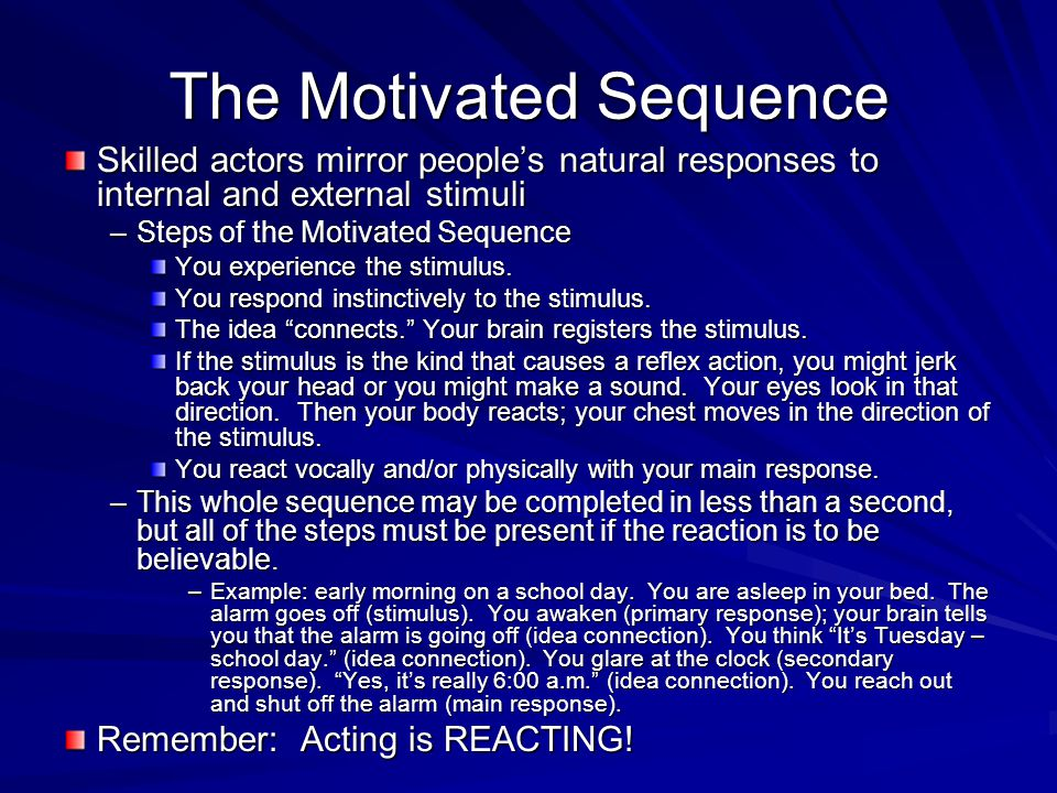 Establishing a Character It is very demanding for inexperienced actors to build a character, work out a situation, formulate actions, and create effective dialogue all at the same time.