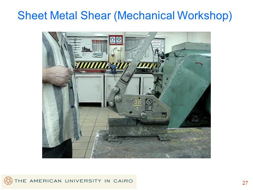 26 Sheet Metal Shear (Mechanical Workshop)