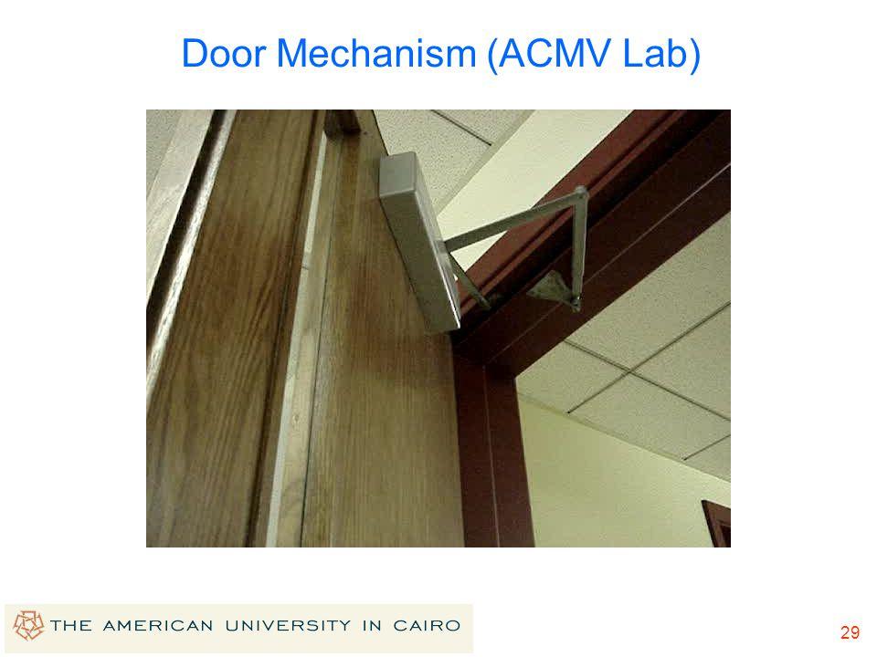 28 Door Mechanism (ACMV Lab)