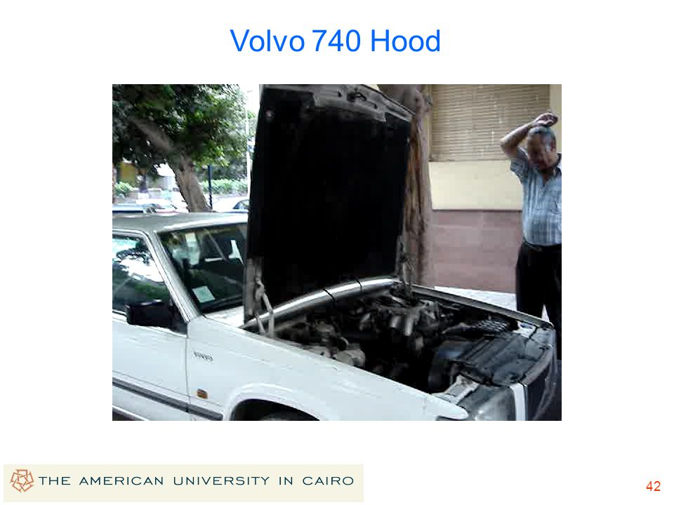 41 Linkages of more than 4 bars Volvo 740 Hood