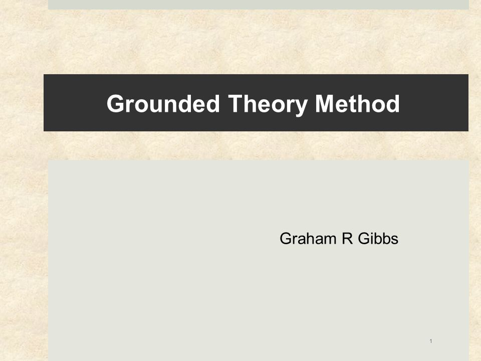 Grounded theory method  focus on generating theoretical ideas (or hypotheses) from the data  rather than having these specified beforehand A grounded theory is one that is inductively derived from the study of the phenomena it represents. Strauss and Corbin.