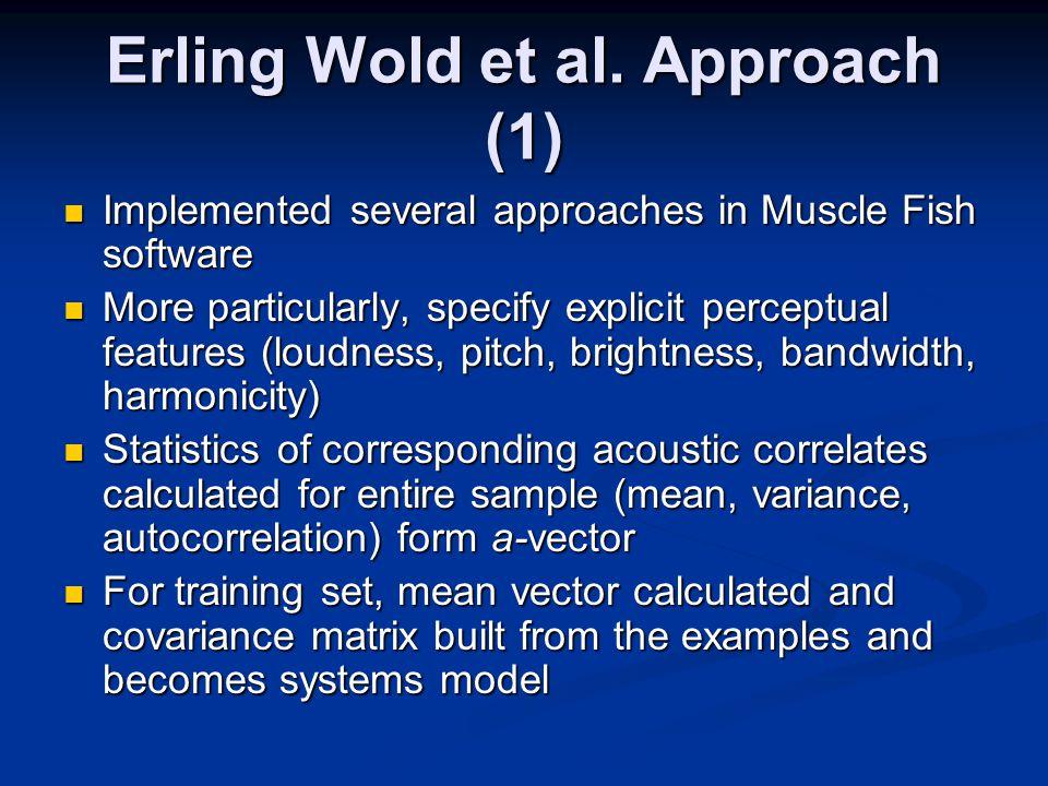 Erling Wold et al.