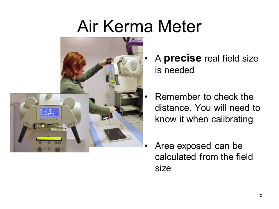 6 Verifying the Field Size The field size can be adjusted with a film, an imaging plate (CR) or a direct digital imaging (DR) Remember to measure the distance perpendicularly The field size should be relatively large e.g.