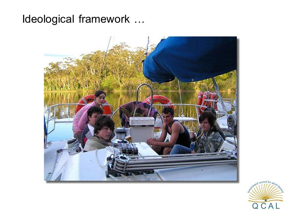 Ideological framework …