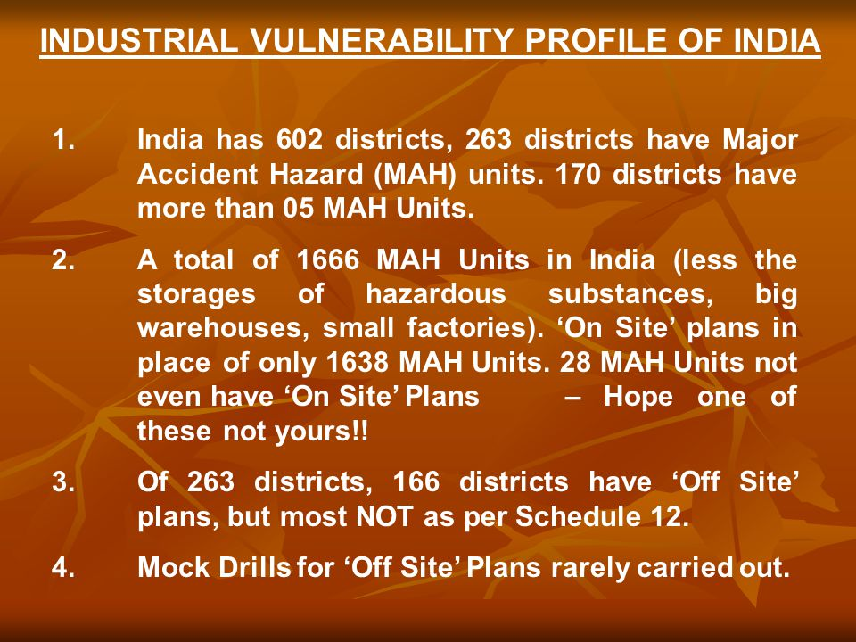 INDUSTRIAL VULNERABILITY PROFILE OF INDIA 1.