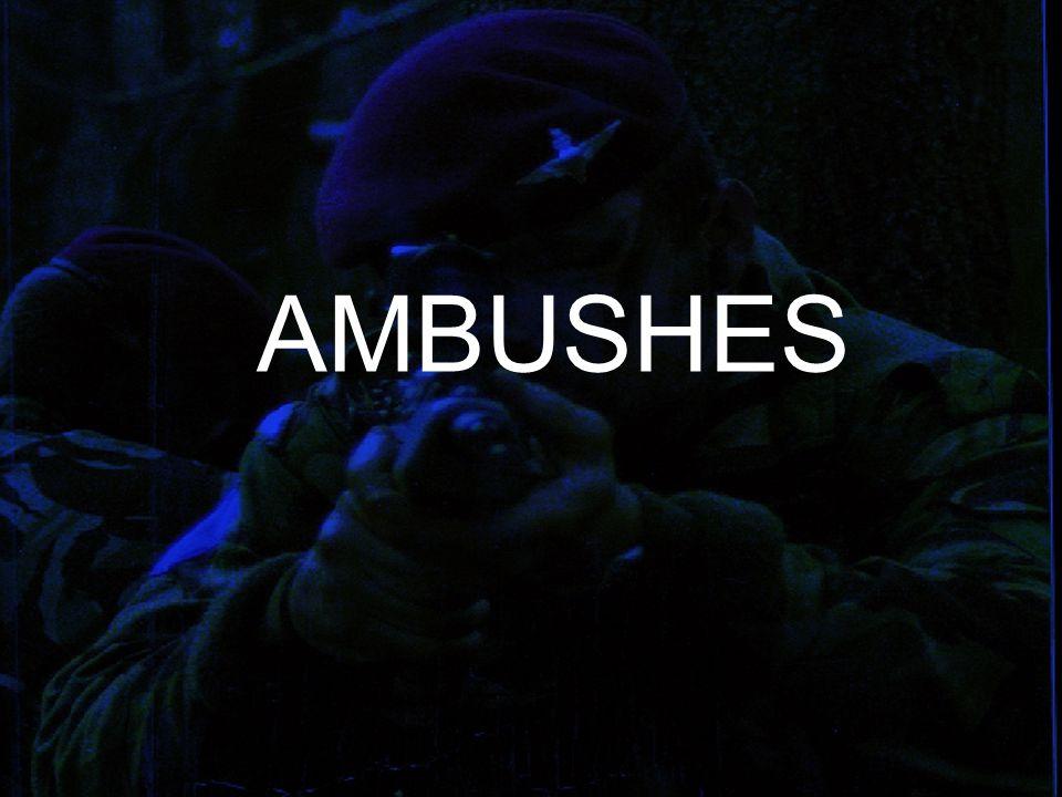 The Aim What is an Ambush - Sites and Categories Principles of Ambush Layout of an Ambush Preparation and Occupation Procedure when Ambush Set