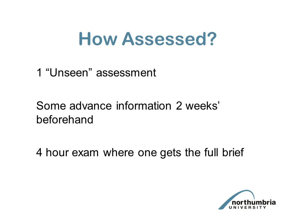 How Assessed.