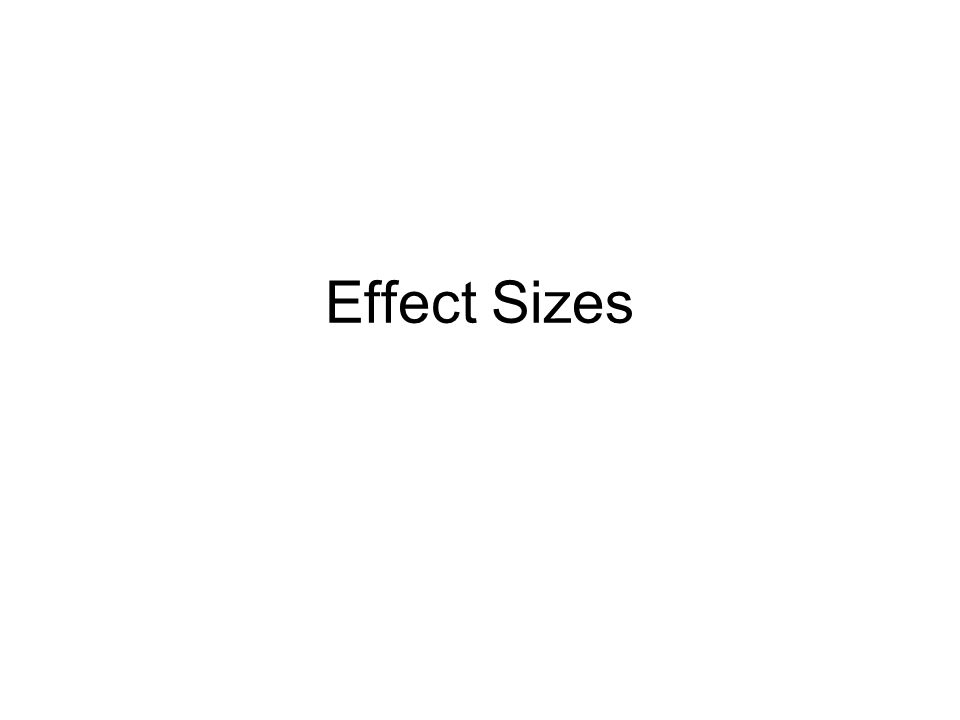Effect Sizes
