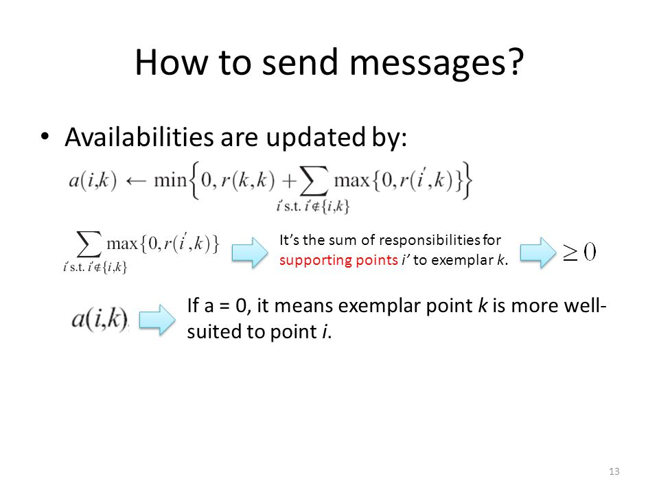 How to send messages.
