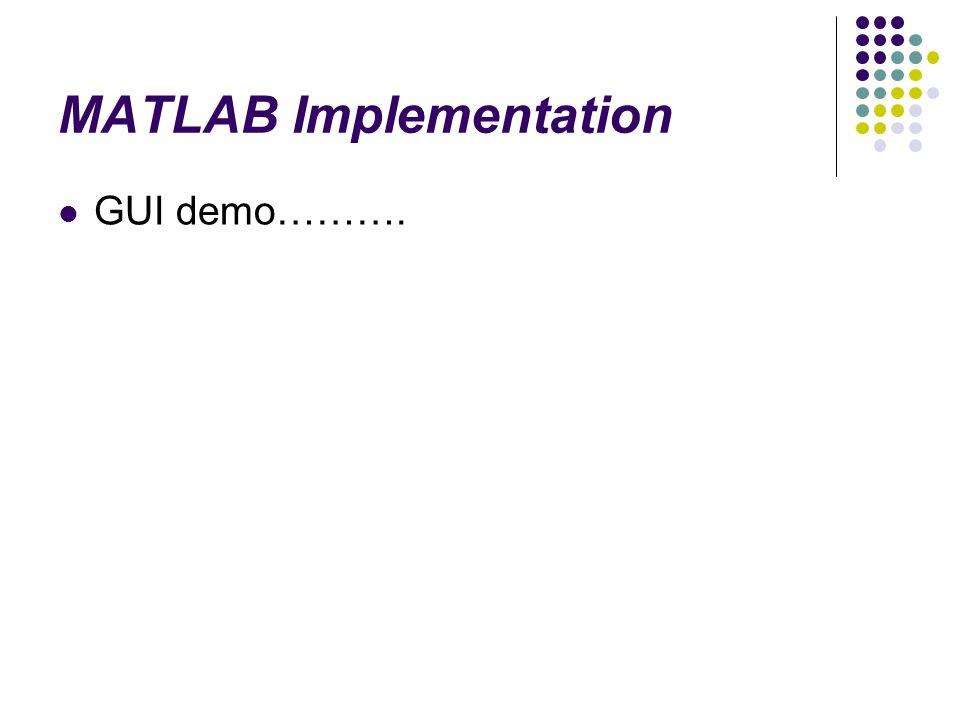 MATLAB Implementation GUI demo……….
