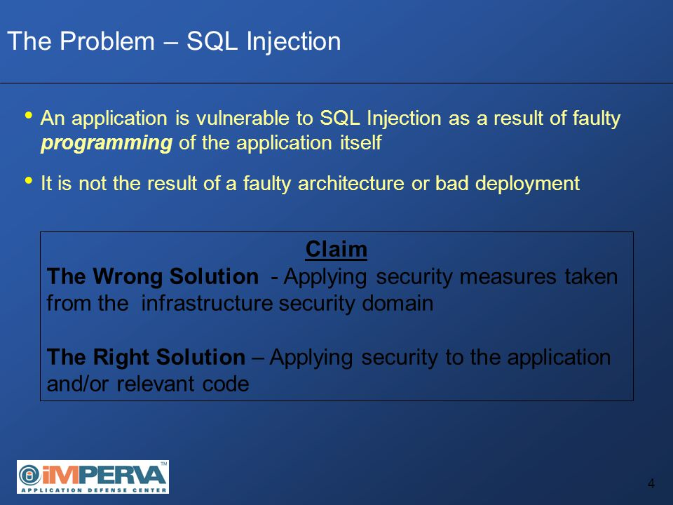5 A Quick Overview of SQL Injection So what exactly is SQL Injection.