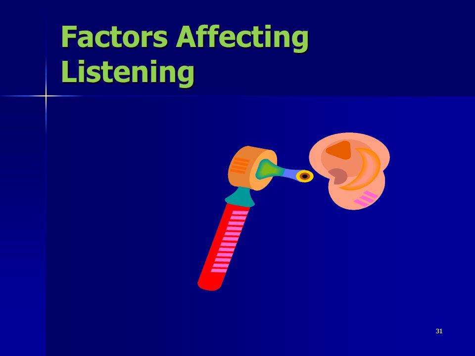 31 Factors Affecting Listening