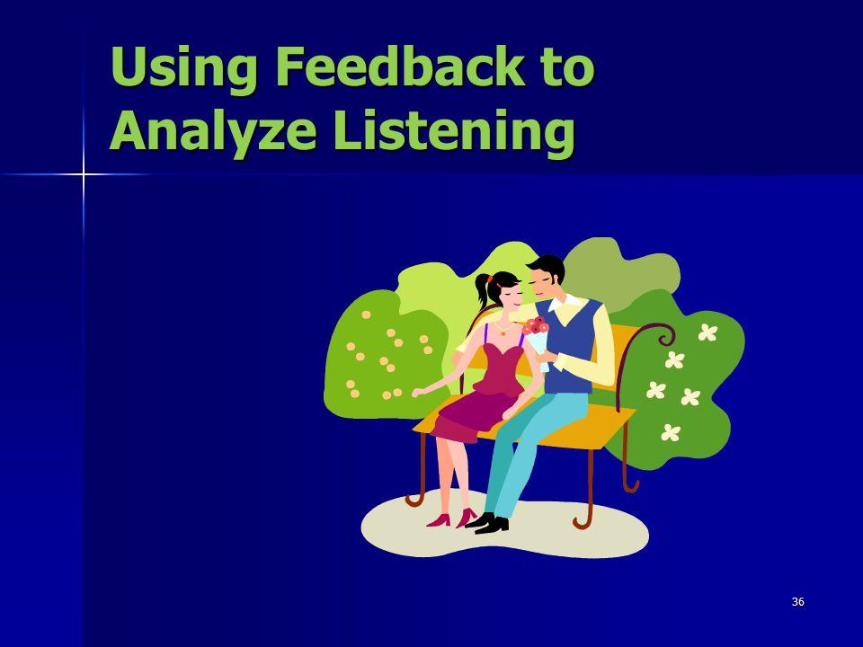 36 Using Feedback to Analyze Listening
