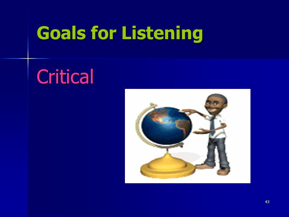 43 Goals for Listening Critical